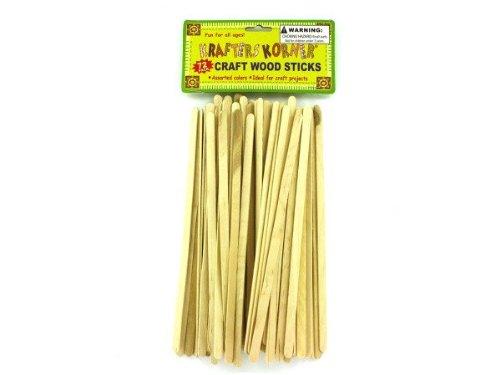 Wood craft sticks - Pack of 48