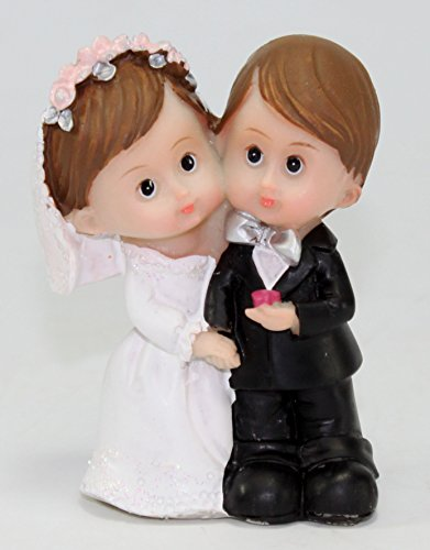 Wedding Gift ~Wedding Couple Keepsake Cake Top Figurines Statues Lover Congratulatory Blessing Gift US Seller (Wedding Couple- PWA019)