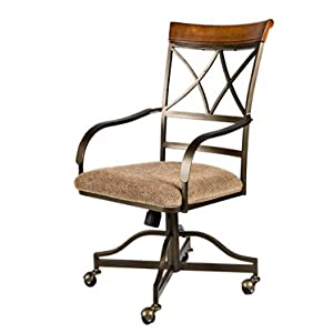 Set Of 2 Swivel Tilt Dining Chairs On Casters