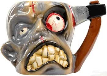 Tortured Hatchet Head Zombie Mug