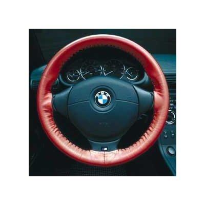 Black - Wheelskins Geninue Leather Steering Wheel Cover - BMW 3 Series 1989 - 2004
