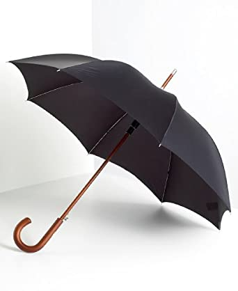 totes ISOTONER Unisex Wooden Hook Handle 38 Inch Stick Umbrella
