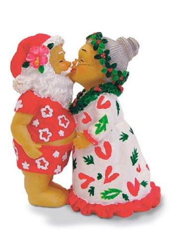 Island Heritage Kissing Santa Ornament