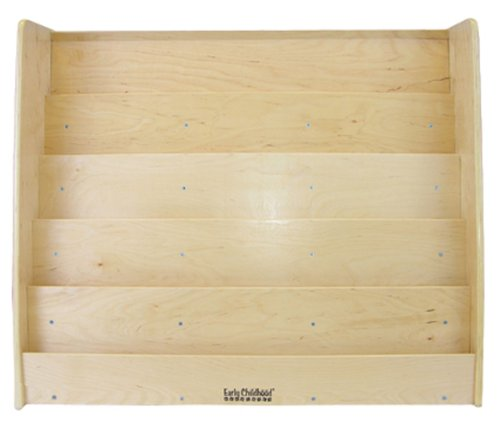 "Ecr4Kids Birch Hardwood Single-Sided Book Display, 15"", Natural front-1005922"