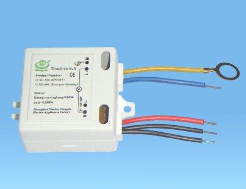 220V ON / OFF interruttore di tocco For Metal Corpo Lampada Risparmio Energetico