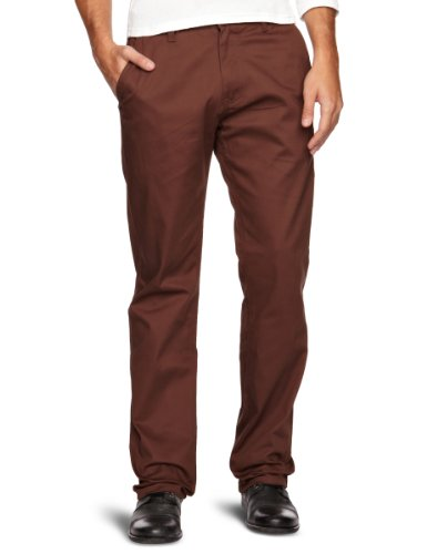 Etnies Rojo Chino Pant Straight Men's Trousers Dark Chocolate W36INxL32IN