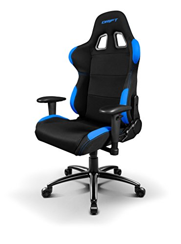 Drift-DR100-Sedia-per-Gaming-Tela-NeroBlu-48x615x129-cm