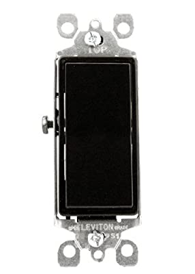 Leviton 5601-2W 15 Amp, 120/277 Volt, Decora Rocker Single-Pole AC Quiet Switch, Residential Grade, Grounding