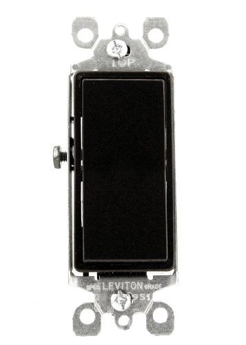 15 Amp 120/277 Volt, Decora Rocker Single-Pole AC Quiet Switch, Residential Grade, Grounding, Brown/Gray/Almond/Light Almond/Black/Ivory/White, 5601-2