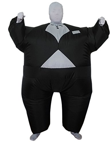 Inflatable Tuxedo Body Suit - Adult Medium