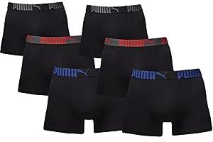 PUMA Herren PROMO STYLE Boxer Boxershort 6er Pack (tripple black, M)
