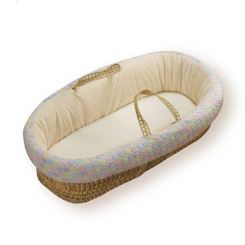 Imagen de Baby Doll Bedding Minky Moisés Basket, Ecru