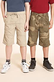 2 Pack - Pure Cotton Drawstring Assorted Woven Shorts [T87-5308X-S]