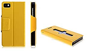 Generic VAVA Series Calling Case for HTC One M8 (Yellow)