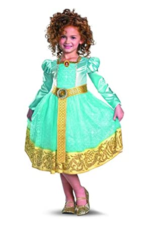Brave Merida Deluxe Costume, Auqa/Gold, Medium