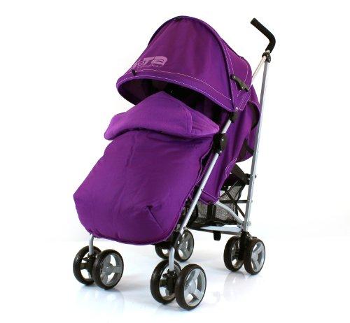 Amazon Stroller Baby Travel Zeta Vooom (Complete Plain)- Plum With Footmuff