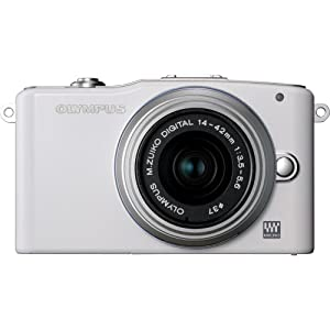 Olympus PEN E-PM1 12.3MP Mirrorless Digital Camera with CMOS Sensor, 3-inch LCD and 14-42mm II Lens (White) (Old Model)