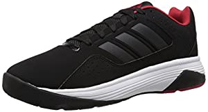 adidas Performance Men's Cloudfoam Ilation Basketball Shoe,Black/Black/Power Red,11.5 M US