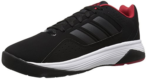 Adidas Performance Men's Cloudfoam Ilation Basketball Shoe,Black/Black/Power Red,9.5 M US