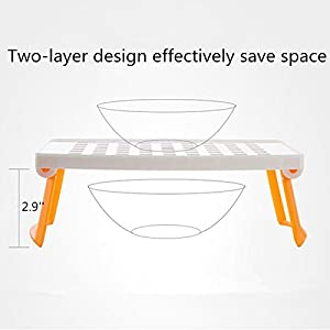 KF653 Multipurpose Foldable Microwave Oven Steam Rack Double Layer Dish Tray for Kitchen, Space and Time Saving