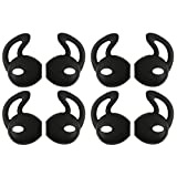 Solover iPhone Earpod Covers for iPhone 6 / 6 Plus / 5 / 5S / 5C Comfortable Silicone Replacement Earbuds Tips 4 Pairs Black
