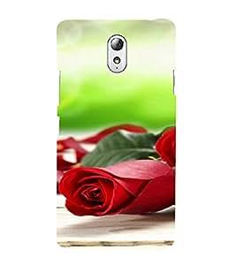 PrintVisa Rose Design 3D Hard Polycarbonate Designer Back Case Cover for Lenovo Vibe P1M