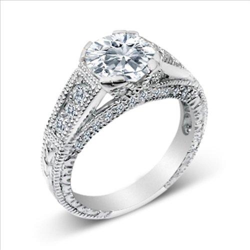 1ct cz Brilliant Engagement Ring 925 Silver Cubic Zirconia (5)