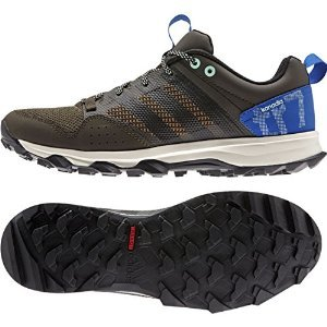 Adidas Outdoor Kanadia 7 Trail Running Sneaker Shoe - Umber/Black/Blue - Mens - 10