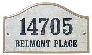 Qualarc, Inc. Crushed Stone Address Plaque, Verona Serpentine, Slate VER-4603-SL