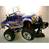 MONSTER 4x4 BIGFOOT RADIO REMOTE CONTROL CAR TRUCK MIGHTY BULL RED/YELLOW/BLUEby remote control car