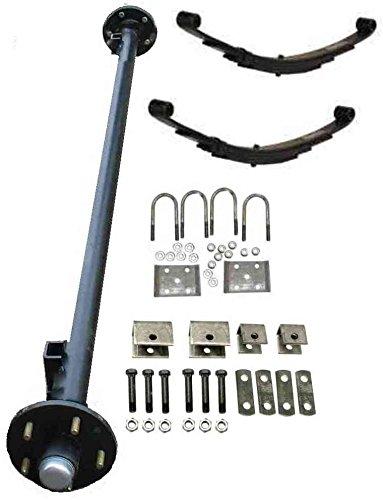 3,500 lb Idler Trailer Axle Running Gear ( Idler Axle W/ Hubs, Bearings, Lugs & Nuts, Springs, U-bolt Kit, Hanger kit. (85