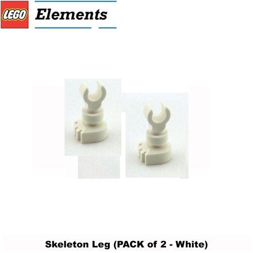 Lego Parts: Skeleton Leg (PACK of 2 - White) (Lego Minifigures Body Parts compare prices)