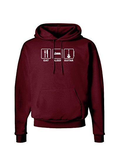 Tooloud Eat Sleep Guitar Design Dark Hoodie Sweatshirt - Maroon - 3Xl