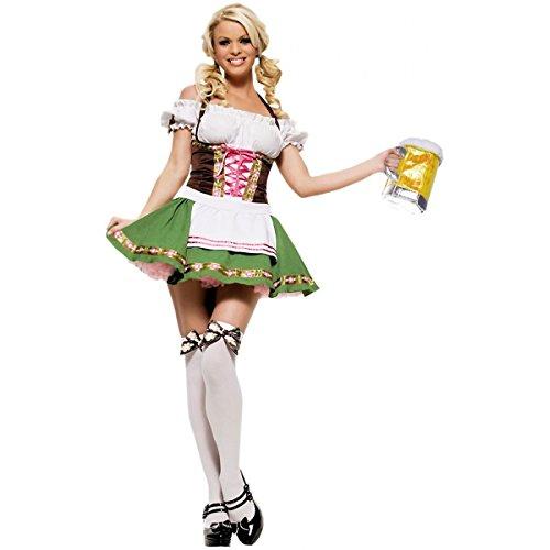 [GSG Beer Girl Costume Adult Sexy German Oktoberfest Maiden Halloween Fancy Dress] (Gothic Maiden Costumes)