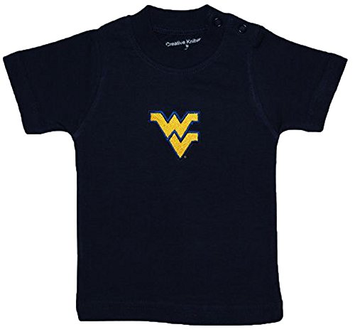 West Virginia Mountaineers Navy Blue NCAA College Toddler Baby T-Shirt Tee