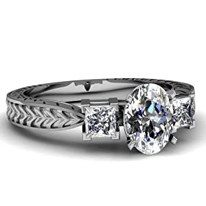 1 Ct Oval Shaped Cut:Very Good Diamond Heirloom Style Engagement Ring 14K