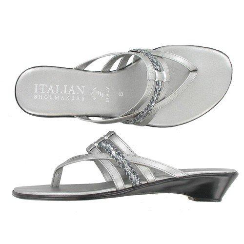 Italian Shoemakers Aveeno Pewter Multi Italian Sandals