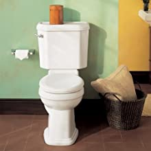 American Standard Townsend Champion-4 Right Height Elongated Seatless Toilet Bowl with Bolt Caps