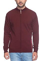 Raymond Men's Woolen Sweater (8907252516070_RMWX00370-M8_44_Maroon)