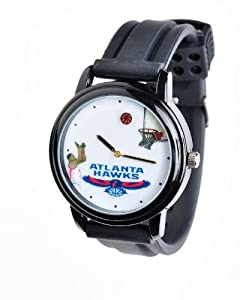 NBA Atlanta Hawks Shooting Ball Black Watch and Band by Overtime Watch