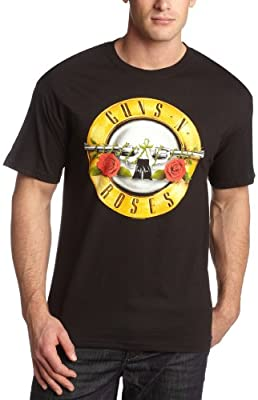 Bravado Men's Guns N Roses Bullet T-Shirt,Black,Medium