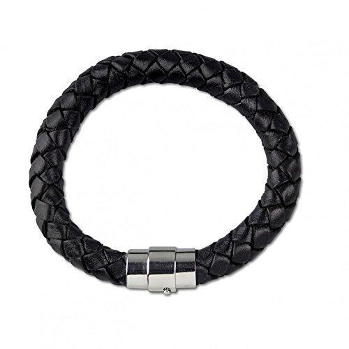 """etNox - braccialetto """"spesso intrecciato aighina ying-yang"""" (SA550-21)"""