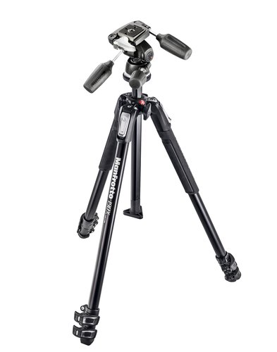 Manfrotto Mk190X3-3W Kit 190X Aluminium 3-Section Tripod With 804Rc2 3 Way Head