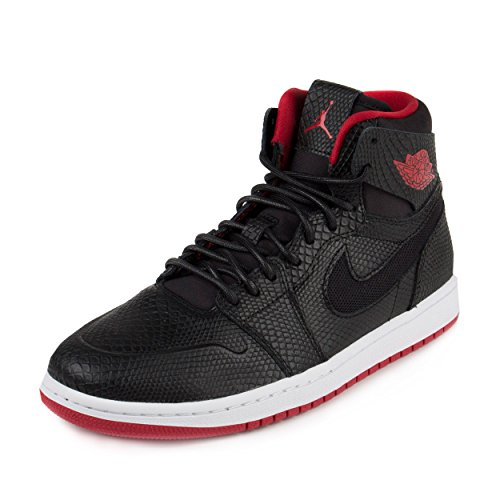 Nike Jordan Men's Air Jordan 1 Retro High Nouv Black/Gym Red/White Basketball Shoe 10 Men US (Jordan 1 Red And Black compare prices)