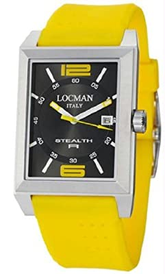 Locman Sport Stealth Rectangular Men's Watch 240BKYL1YL