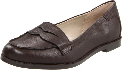 Adrienne Vittadini Women's Mitch Slip-On Loafer, Dark Brown Calf, 9 M US