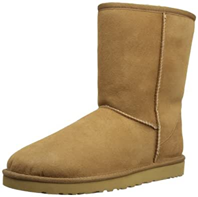 UGG Australia Women's Classic Short Chestnut Sheepskin Boot 5 M US