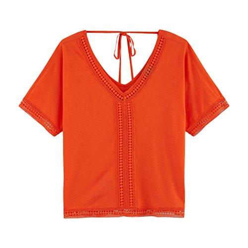 Vero Moda Donna Camicetta Sun, Ricamata Taglia 1 Arancione