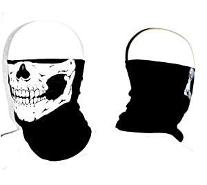 Stretchable Tubular Skull Face Mask Motorcycle Biker Snowboards by NUNEZINC