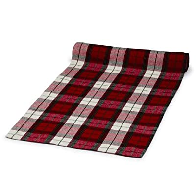 "Sur La Table Tartan Plaid Table Runner 6285616 C , 108"" x 16"""